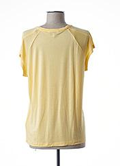 T-shirt manches courtes jaune TOMMY HILFIGER pour femme seconde vue