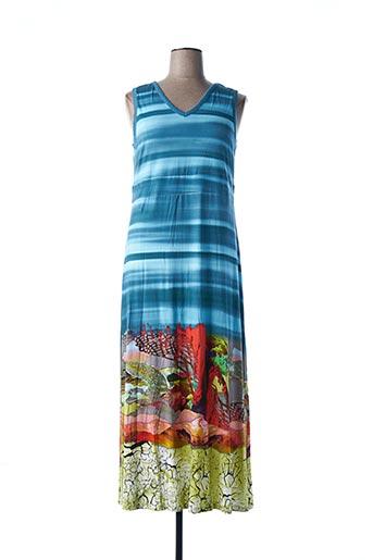 Robe longue bleu DOLCEZZA pour femme