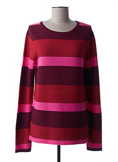 Pull col rond rose BRANDTEX pour femme