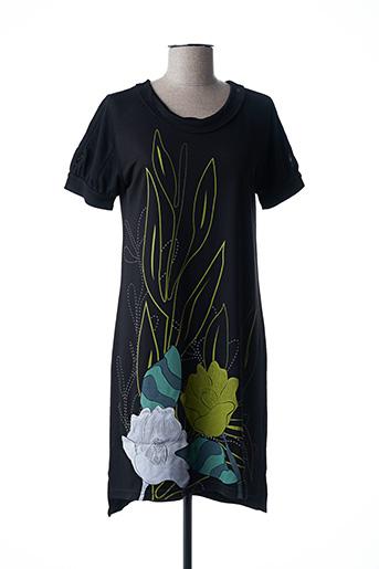 Robe mi-longue noir COMOUNAREGADERA pour femme
