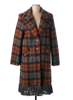 Manteau long marron ELEONORA AMADEI pour femme