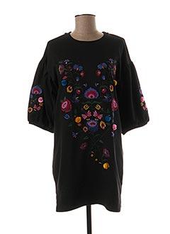 Robe courte noir CIMINY pour femme