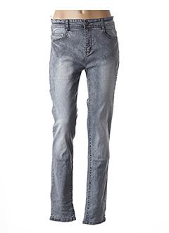 Jeans coupe slim gris BB.S JEANS pour femme