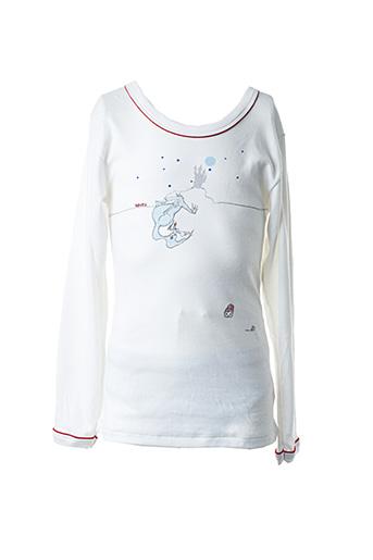 T-shirt manches longues blanc PETIT BATEAU pour garçon
