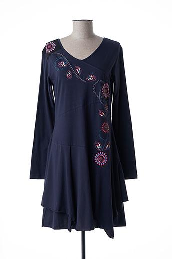 Robe mi-longue violet COLINE pour femme