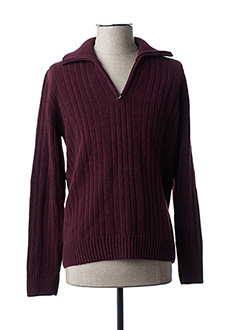 Pull col cheminée rouge FLORENTINO pour homme