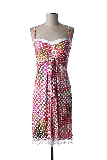 Robe courte rose FUEGO WOMAN pour femme