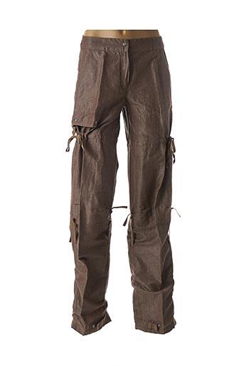 Pantalon casual marron DIDIER PARAKIAN pour femme