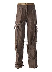 Pantalon casual marron DIDIER PARAKIAN pour femme seconde vue