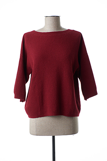 Pull col rond rouge B.YU pour femme