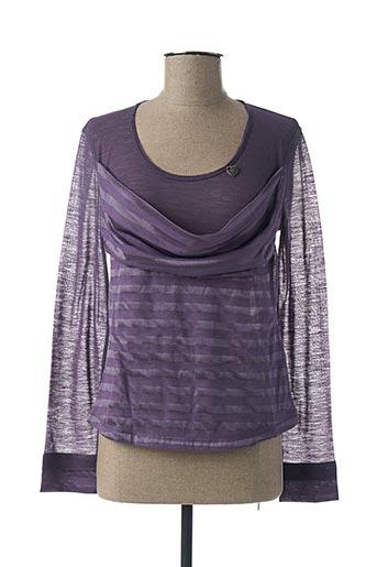 T-shirt manches longues violet LE PETIT BAIGNEUR pour femme