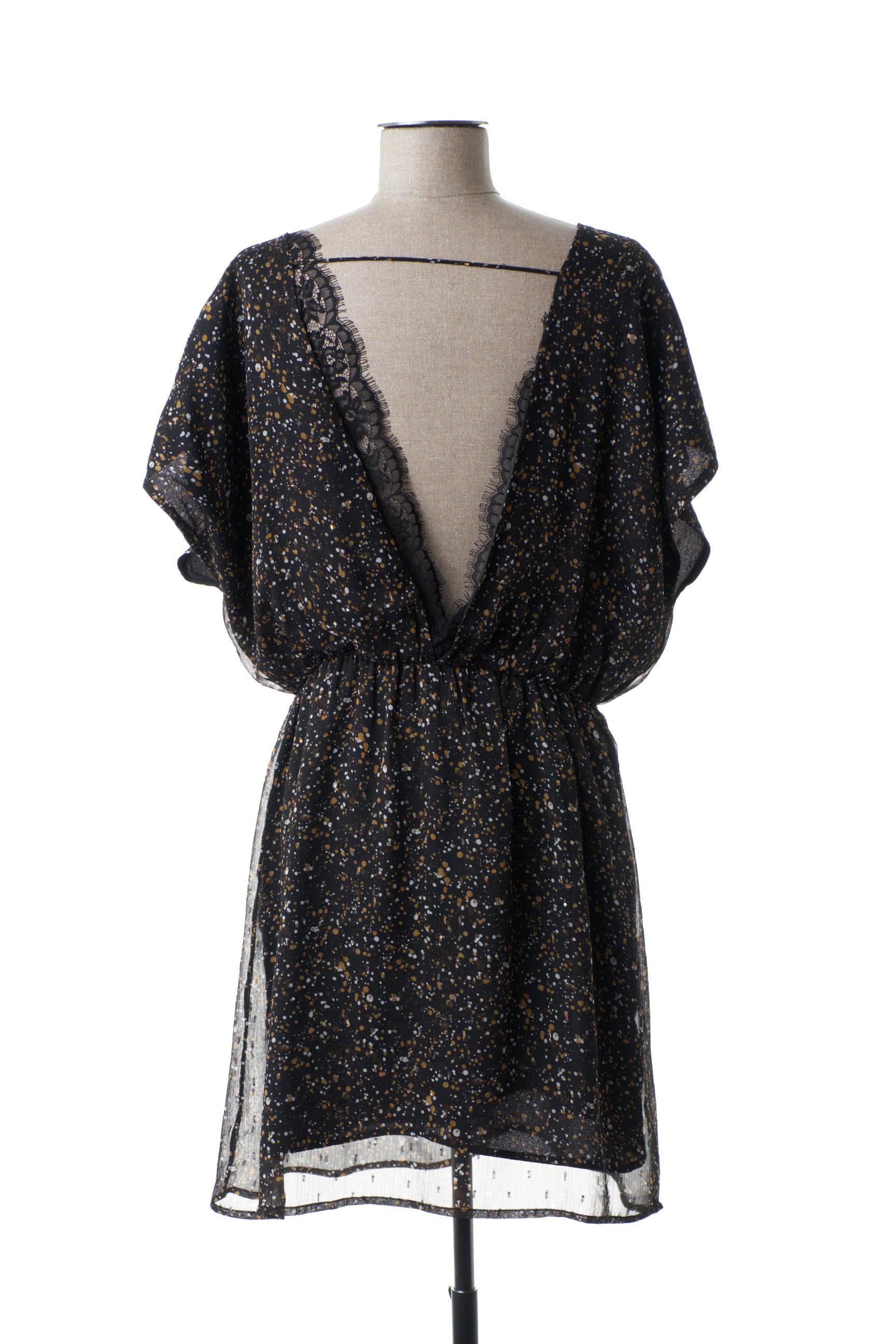 Molly Bracken Robes Mi Longues Femme De Couleur Noir En Soldes Pas Cher 1442020-noir00
