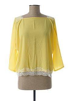 Blouse manches longues jaune MOLLY BRACKEN pour femme