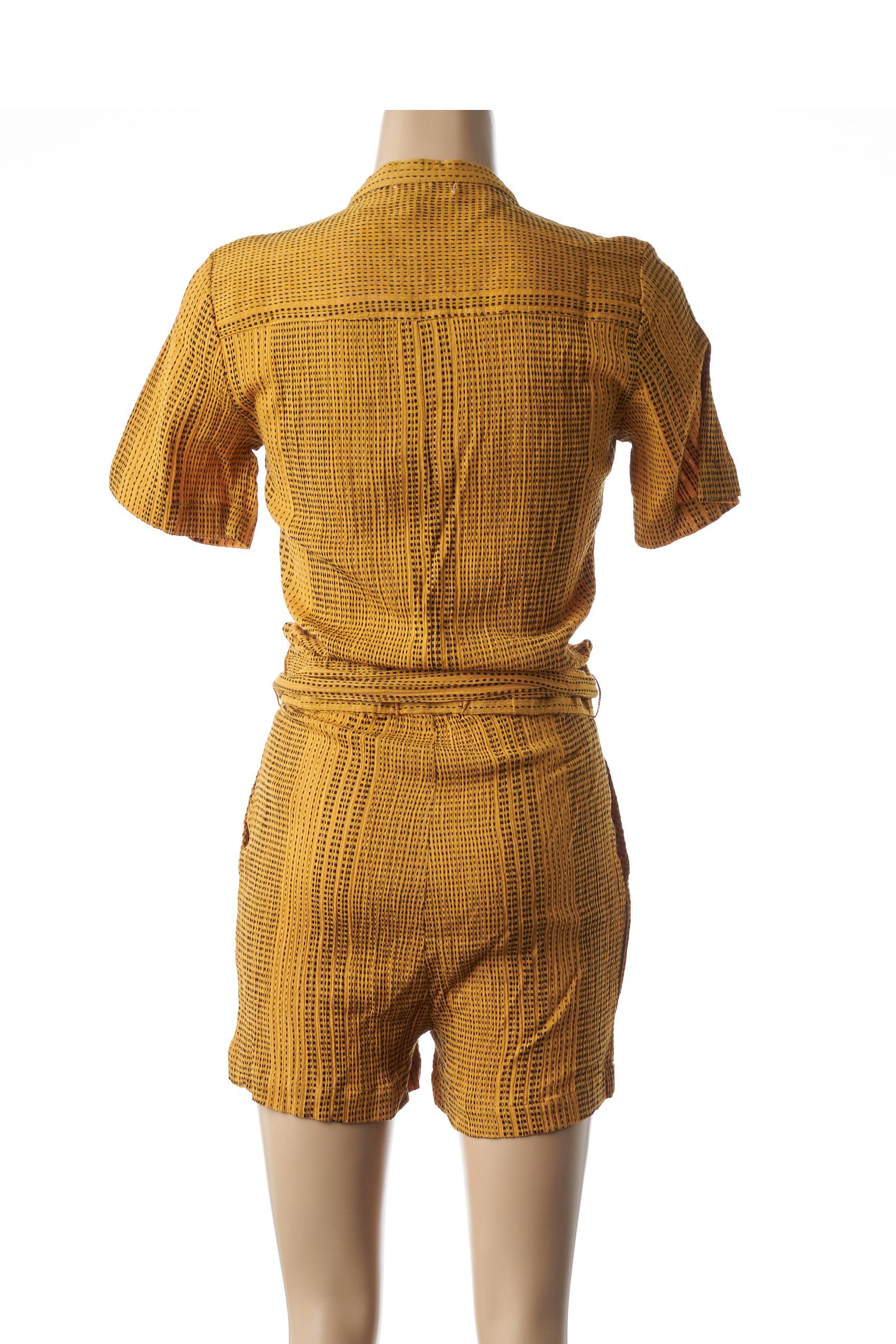 Suncoo Combi Shorts Femme De Couleur Jaune En Soldes Pas Cher 1442665-jaune0