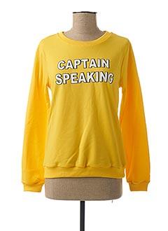 Sweat-shirt jaune COMPAÑIA FANTASTICA pour femme