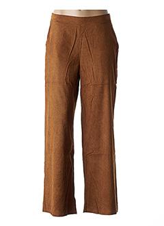 Pantalon casual marron COMPAÑIA FANTASTICA pour femme