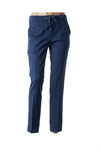 Pantalon casual bleu GRACE & MILA pour femme