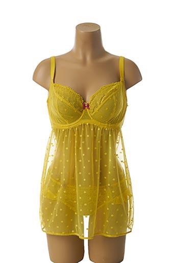 Ensemble lingerie jaune CLEO BY PANACHE pour femme