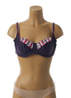 Haut de maillot de bain violet FANTASIE pour femme
