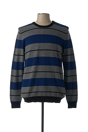 Pull col rond gris GAUDI pour homme