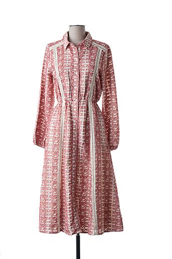 Robe mi-longue rouge AMENAPIH pour femme
