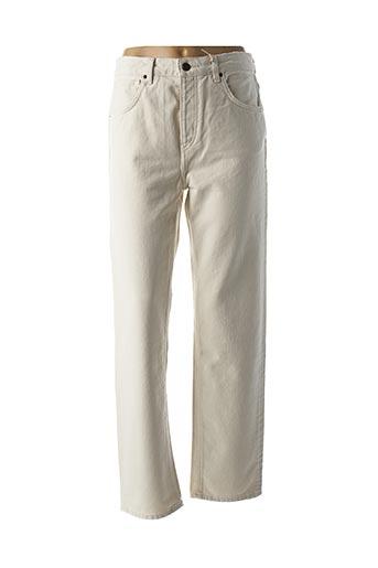 Jeans coupe large beige AMERICAN VINTAGE pour femme