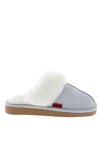 Chaussons/Pantoufles gris YLIN pour femme