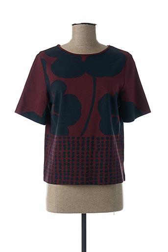 T-shirt manches courtes rouge PAUL BRIAL pour femme