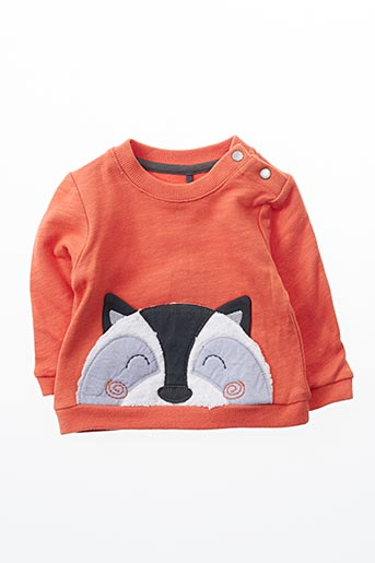 Sweat-shirt orange BOBOLI pour fille