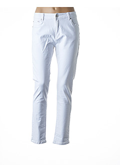 Pantalon casual blanc ANA LUCY pour femme