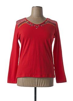 T-shirt manches longues rouge COLINE pour femme