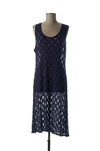 Robe mi-longue bleu BORIS INDUSTRIES pour femme