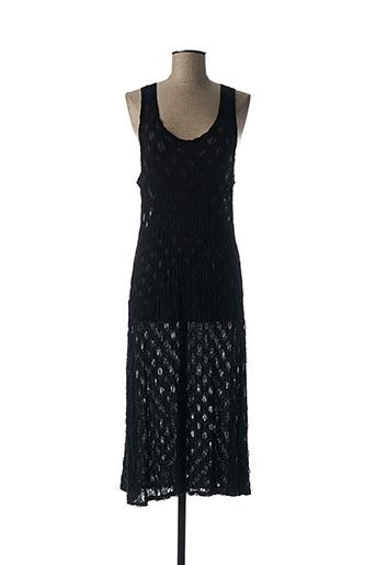 Robe mi-longue noir BORIS INDUSTRIES pour femme