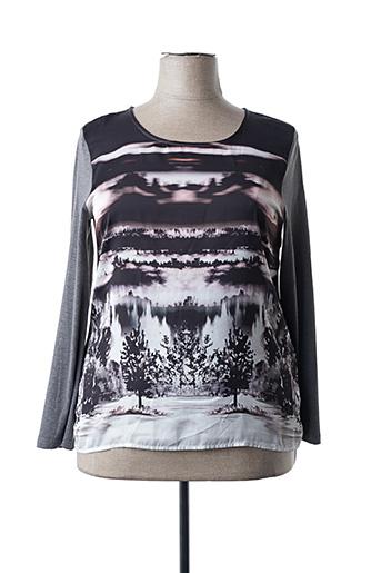 T-shirt manches longues gris C'EST BEAU LA VIE pour femme