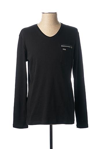 T-shirt manches longues noir BENSON & CHERRY pour homme