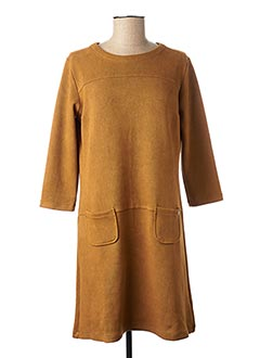 Robe mi-longue marron THALASSA pour femme