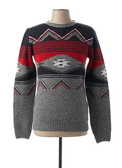 Pull col rond gris IMPERIAL pour homme