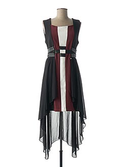 Robe mi-longue noir RINASCIMENTO pour femme