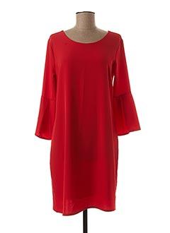 Robe mi-longue rouge SIGNE NATURE pour femme