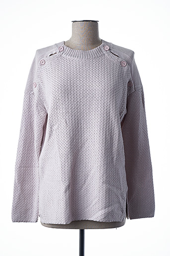 Pull col rond rose FREEMAN T.PORTER pour femme