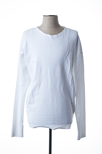 Pull col rond blanc SCOTCH & SODA pour homme