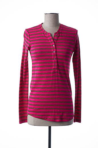 T-shirt manches longues rose SCOTCH & SODA pour femme