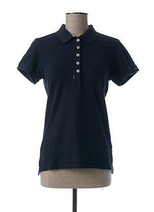 Polo manches courtes bleu CODE ZERO pour femme