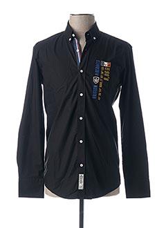 Chemise manches longues noir ARISTOW pour homme