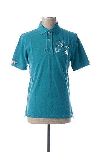 Polo manches courtes bleu CODE ZERO pour homme