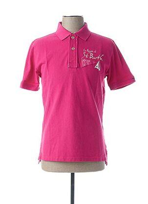 Polo manches courtes rose CODE ZERO pour homme