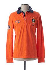 Polo manches longues orange ARISTOW pour homme seconde vue