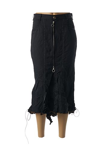 Jupe longue noir BARBARA BAUDON pour femme