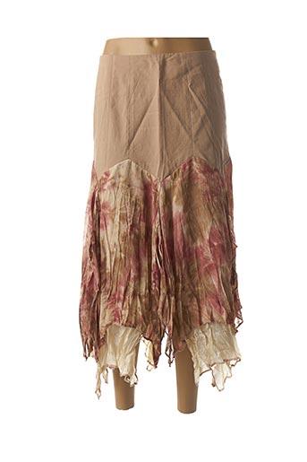 Jupe mi-longue marron CAROLINE BISS pour femme