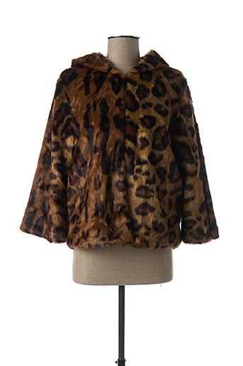 Manteau court marron FEELHOO pour femme